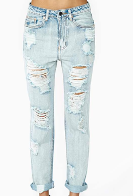All Torn Up Boyfriend Jeans $68
