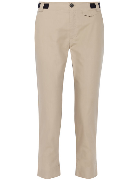 Band of Outsiders Cropped Cotton Slim-Leg Pants $345