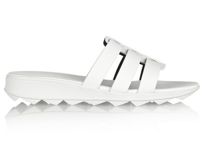 Christopher Kane Cutout Matte-Leather Slides $320