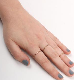Catbird Jewelry Classic Hammered Ring, Yellow Gold $64