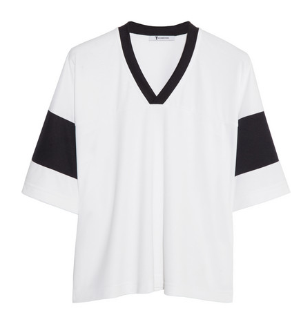 T by Alexander Wang Sandwashed Pique' Top $190