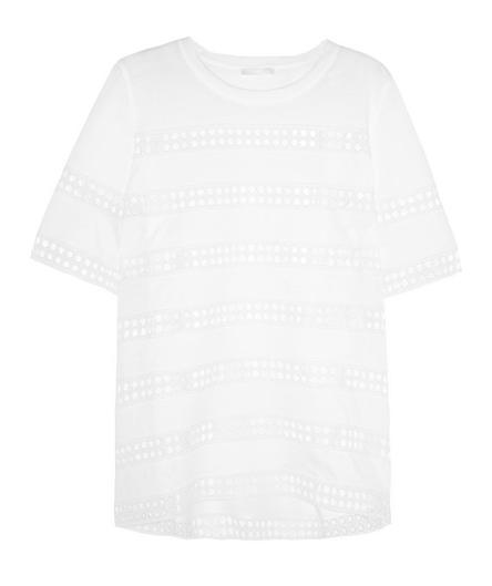Chloe' Crochet-Paneled Cotton Top $695