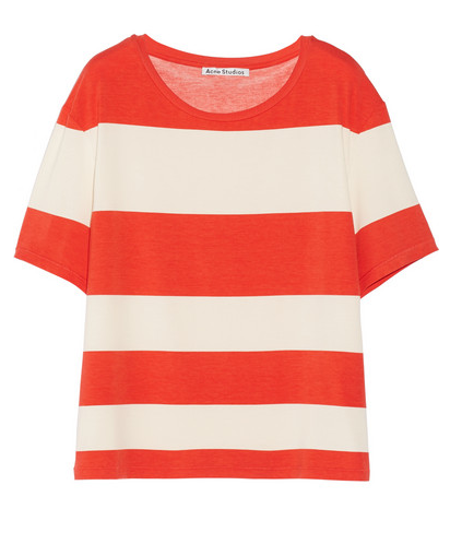 Acne Studios Wonder Stripe Stretch-Jersey T-Shirt $220