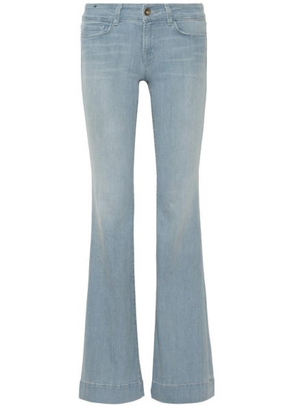 J Brand 722 Love Story Low-Rise Flared Jeans $240