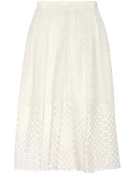 TIBI Sonoran Eyelet-Cotton Skirt $400