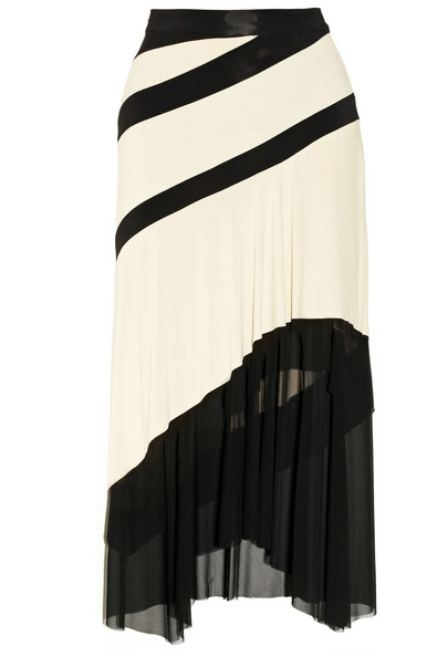 Donna Karan Mesh-Trimmed Jersey Midi Skirt $1495
