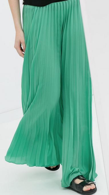 Zara Long Fine Pleated Skirt $99.90