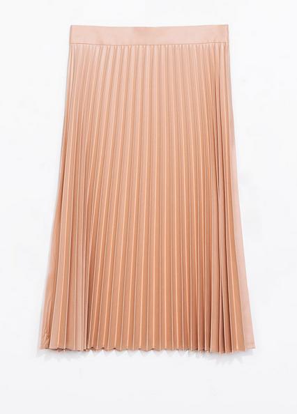 Zara Coated Pleated Skirt $79.90