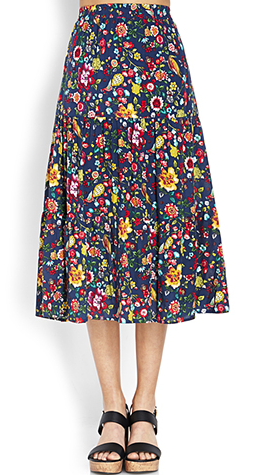 Forever 21 Tiered Floral Skirt $22.80