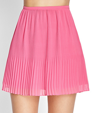Forever 21 Pleated Chiffon Skirt $17.80