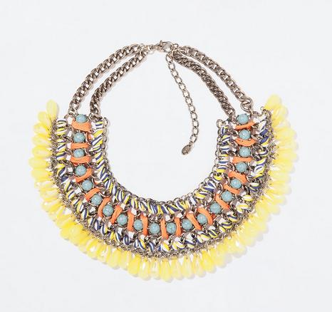 Zara Diamante and Cord Necklace $29.90
