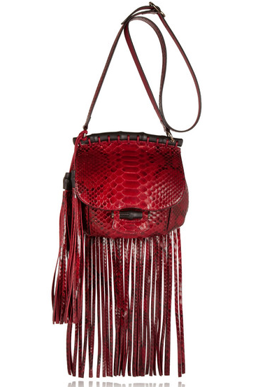 Gucci Fringed Python Shoulder Bag $3100