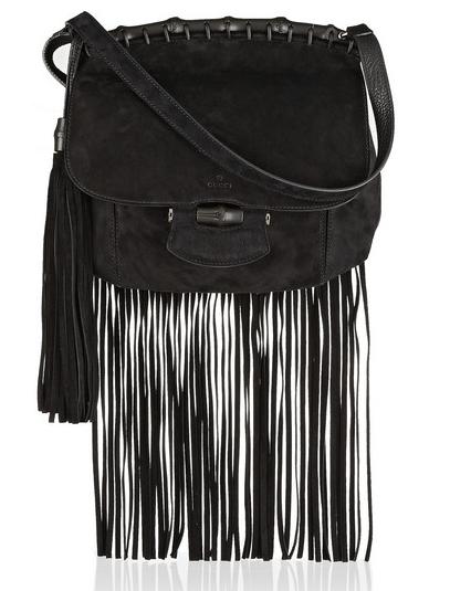 Gucci Fringed Suede Shoulder Bag $2500