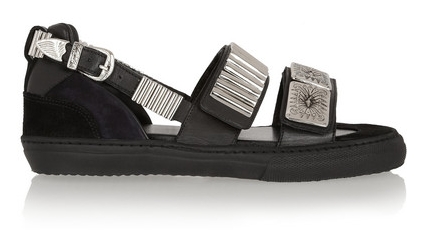 Toga Embellished Leather and Suede Sandals $510
