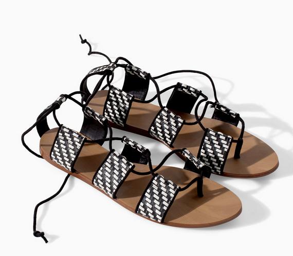 Zara Braided Flat-Sole Sandal $59.90