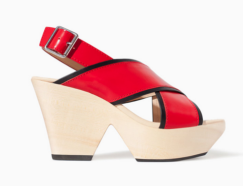 Zara Leather Wedge with Cross Straps $99.90