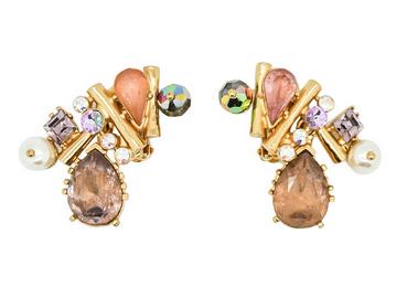 Christian Lacroix Vintage Colorful Multi-stone Earrings $270