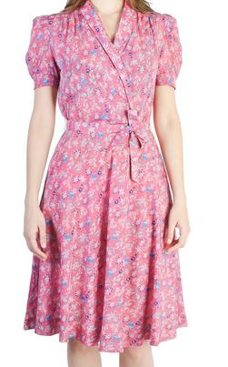 Vintage 1940's Pink Floral Dress $247.50