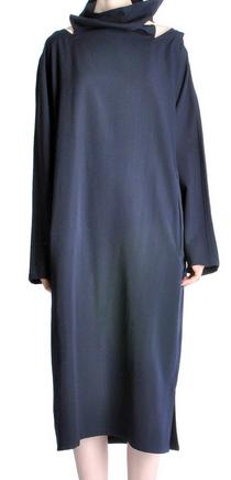 Yohji Yamamoto Vinage Navy Blue Buckle Dress $1305