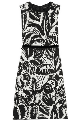 MARC JACOBS Embroidered printed taffeta dress $1500