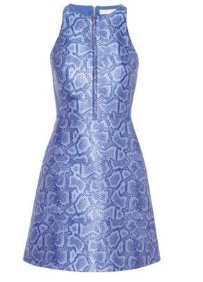 RICHARD NICOLL Neoprene-paneled python-jacquard dress $1335