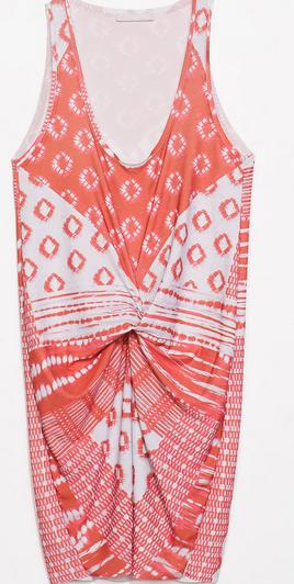 Zara Printed Gather Dress $49.90