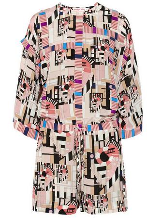 SEE BY CHLOÉ Geometric-print silk playsuit $730
