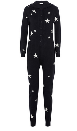 CHINTI AND PARKER Star-intarsia cashmere hooded jumpsuit $760