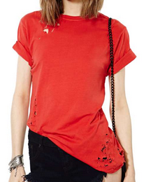 After Party Vintage Essential Tee - Red $48.00