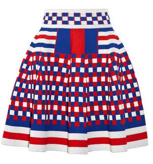 ALEXANDER MCQUEEN Jacquard mini skirt $3,250
