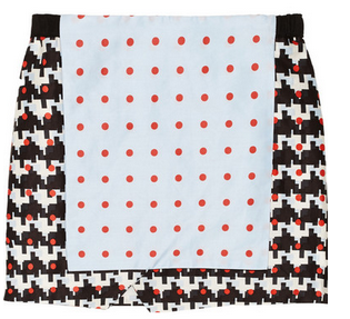 THAKOON ADDITION Printed cotton-blend wrap-effect skirt $390