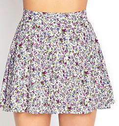 Forever 21 Abstract Floral Skater Skirt $15.80