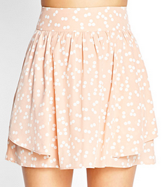Forever 21 Dotted Woven Skirt $17.80