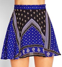 Forever 21 Woven Floral Skater Skirt $14.80