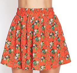 Forever 21 Floral Print Skater Skirt $7.80