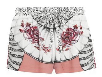 PAUL & JOE Portika printed crepe shorts $270