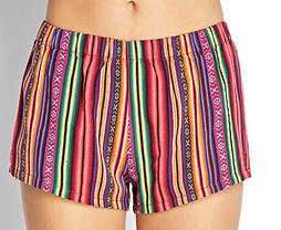 Forever 21 Baja Striped Shorts $13.80