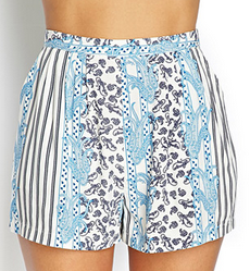 Forever 21 Paisley Pleated Woven Shorts $12.80