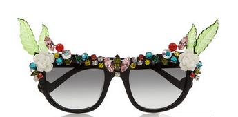 ANNA-KARIN KARLSSON Tropical Swarovski crystal-embellished D-frame acetate sunglasses $1,010