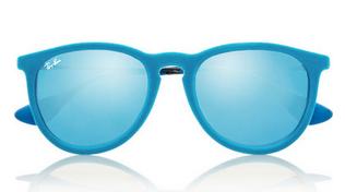 RAY-BAN Erika round-frame velvet mirrored sunglasses $135