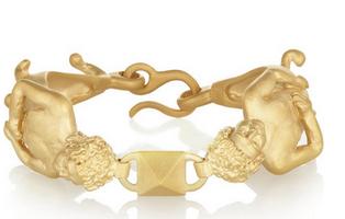 VALENTINO Gemini gold-tone bracelet $620