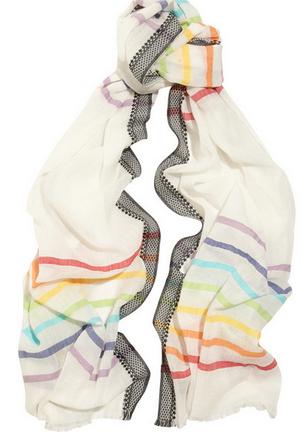 ROSE & ROSE St Paul striped cotton-blend scarf $115