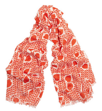 STELLA MCCARTNEY Heart-print cotton and modal-blend scarf $400