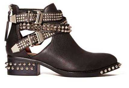 Jeffrey Campbell Everly Cutout Boot - Black/Silver $212.00