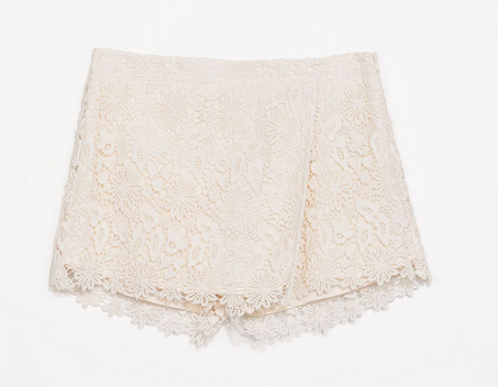 Zara Guipure Layer Shorts $59.90