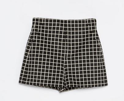 Zara Checked Shorts $59.90