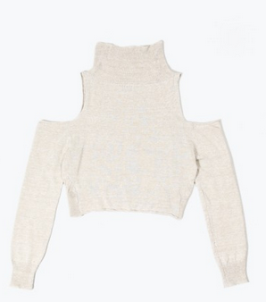 OAK Exposed Shoulder Sweater Natural $171.50