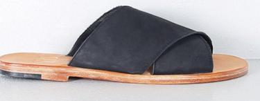 OAK Cross Strap Sandal Black/Natural $147