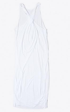 OAK Twist Back Dress White $133