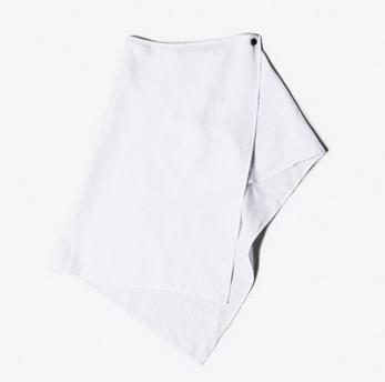 OAK Asymmetric Button Skirt White $119